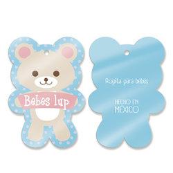Etiqueta de cartón para ropa de bebé